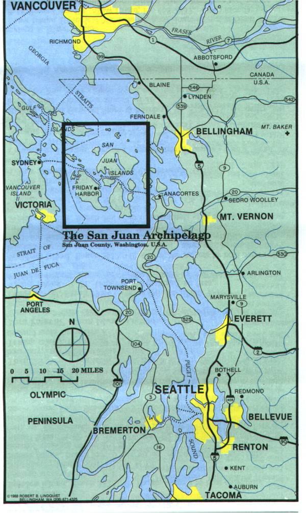 Map of North Western Washington